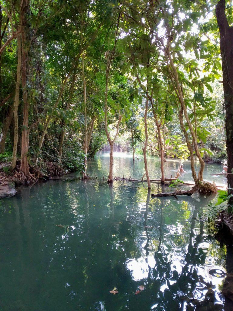 kuang si waterfall top laos